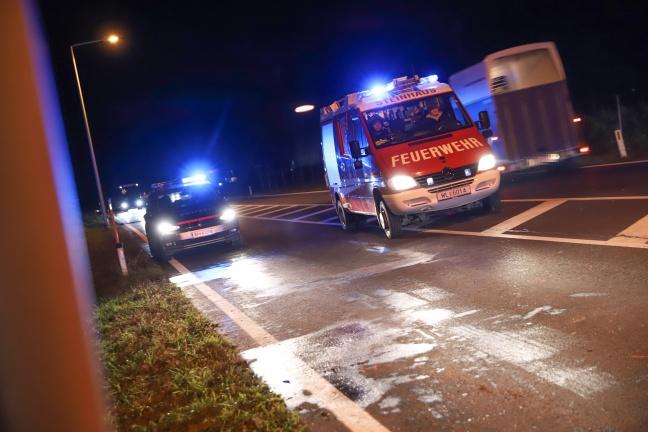 Auffahrunfall in Abendverkehr auf Pyhrnpass Straße in Steinhaus