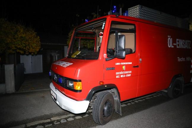 Biber von Feuerwehr aus Garten in Wels-Lichtenegg zurück in die Natur gebracht