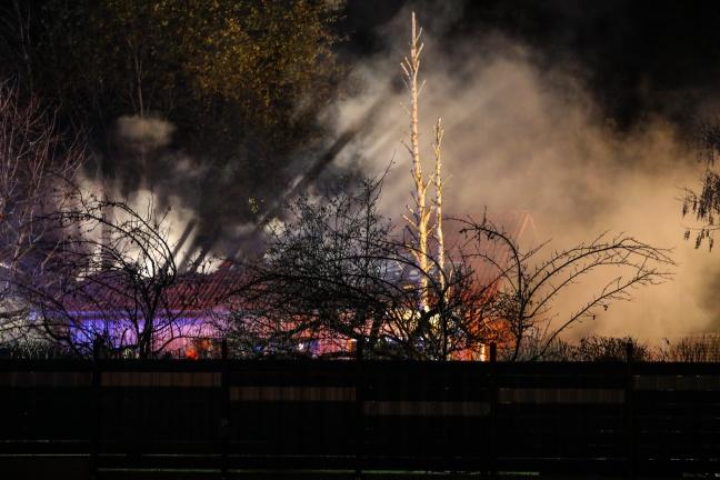 Brand eines Nebengebäudes eines Wohnhauses in Ottnang am Hausruck