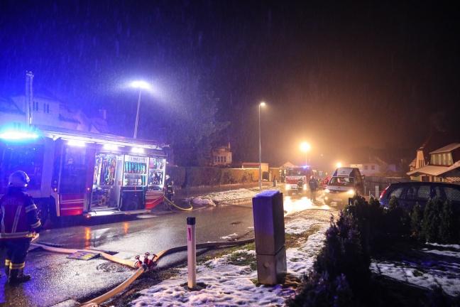 Vier Feuerwehren bei Wohnhausbrand in Sierning im Einsatz