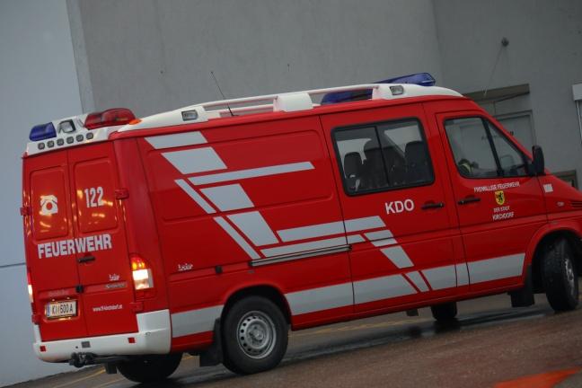 Gasaustritt bei Produktionsanlage in einem Betrieb in Kirchdorf an der Krems