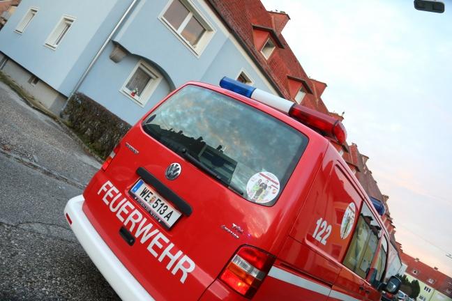 Gemeldeter Wohnungsbrand in Wels-Vogelweide war glücklicherweise nur Kleinbrand