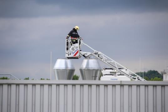 Brand in einer Lüftungsanlage in einem Welser Unternehmen