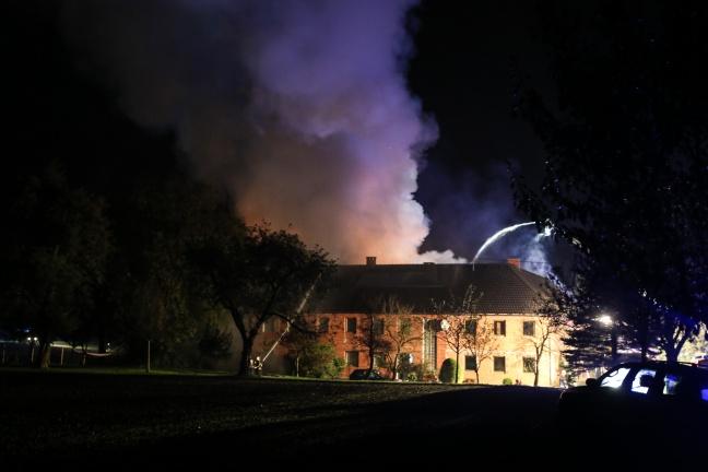 Großbrand eines Bauernhofes in Waldneukirchen