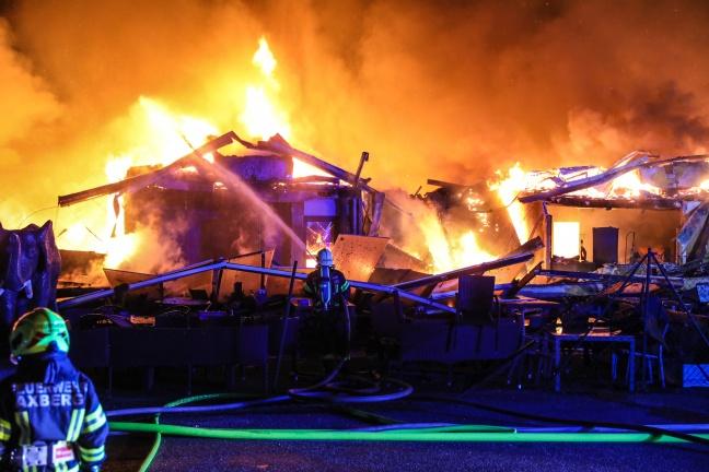 Großbrand eines Fachmarktzentrums in Marchtrenk