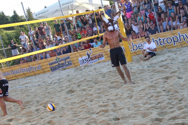 Profi-Showmatch bei der Beachtrophy in St. Marienkirchen an der Polsenz