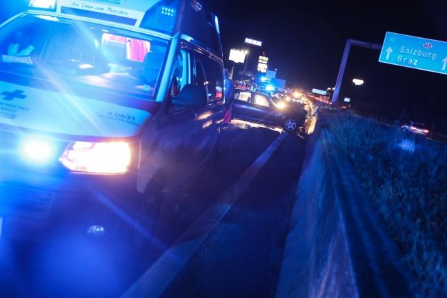 Verkehrsunfall auf der Westautobahn bei Ansfelden