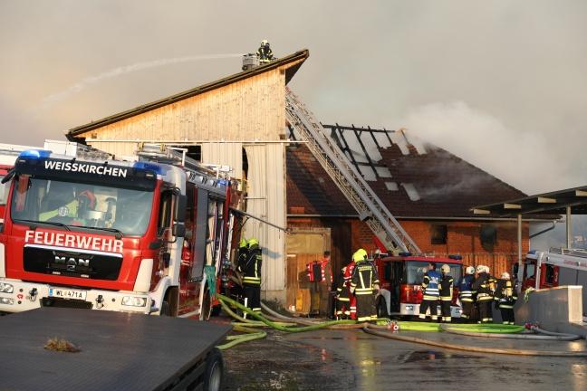 Großbrand eines Bauernhofes in Pucking