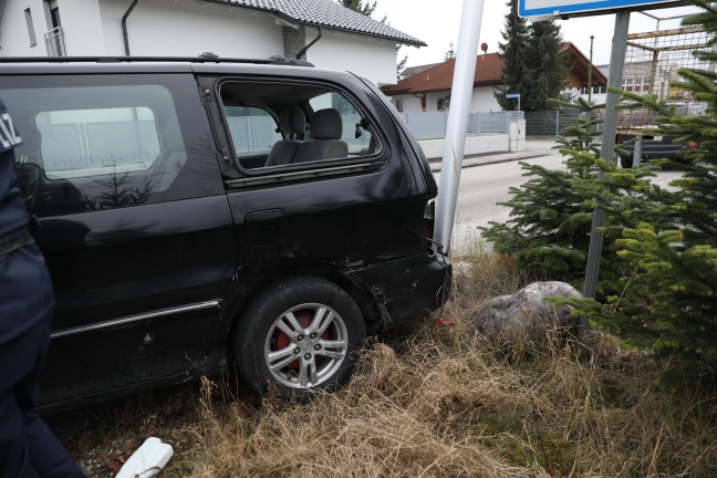 Verkehrsunfall in Gunskirchen endet glimpflich