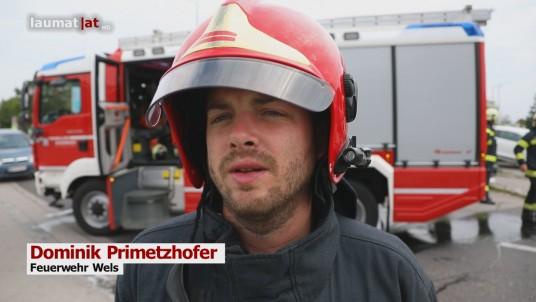 Dominik Primetzhofer, Feuerwehr Wels