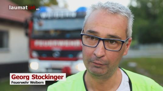 Georg Stockinger, Feuerwehr Weibern