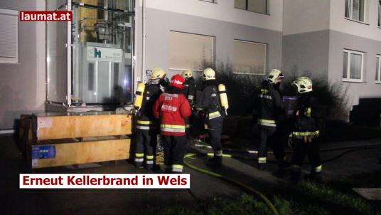 Erneut Kellerbrand in Wels