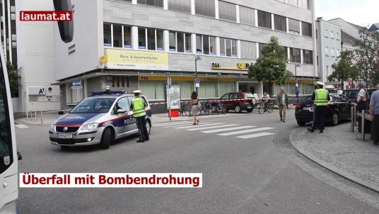 Überfall mit Bombendrohung
