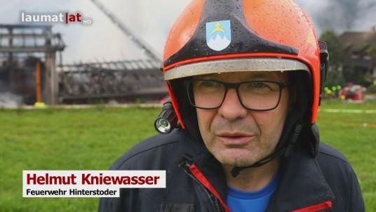 Helmut Kniewasser, Feuerwehr Hinterstoder