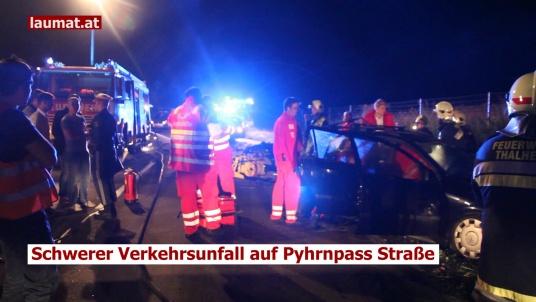 Schwerer Verkehrsunfall auf Pyhrnpass Straße