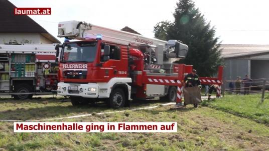 Maschinenhalle ging in Flammen auf