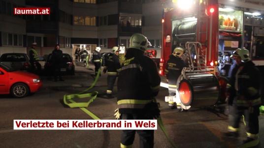 Verletzte bei Kellerbrand in Wels