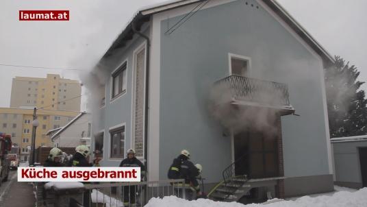 Küche ausgebrannt