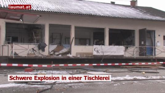 Schwere Explosion in einer Tischlerei