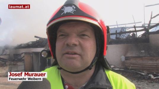 Josef Murauer, Feuerwehr Weibern
