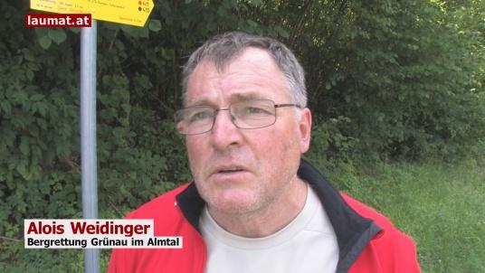Alois Weidinger, Bergrettung Grünau im Almtal