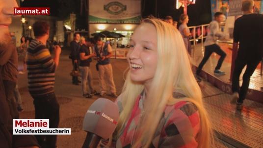 Melanie, Volksfestbesucherin