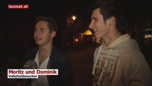 Moritz und Dominik, Volksfestbesucher