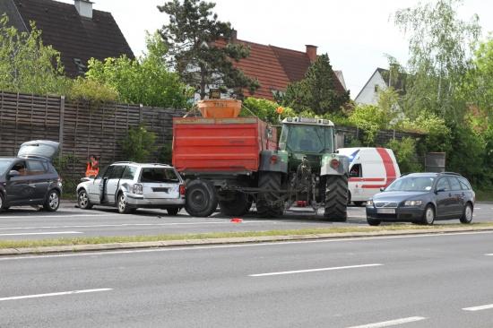 Unfall mit Traktor sorgte für Verkehrsbehinderungen