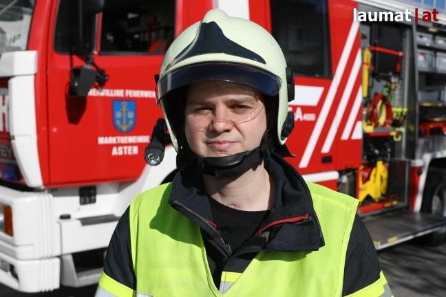 Stefan Huber, Einsatzleiter Feuerwehr Asten