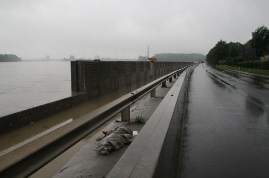 Donau-Hochwasser in Mauthausen