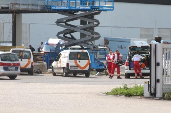 Arbeiter erlitt Stromschlag auf Baustelle in Wels