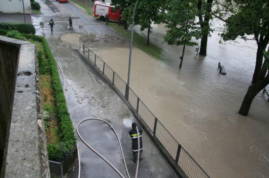 Hochwasser in Steyr geht zurück