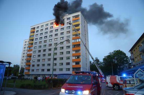 Ein Todesopfer bei Wohnungsbrand in Wels-Lichtenegg