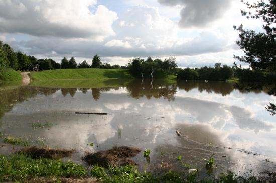Freizeitanlage Wimpassing überflutet