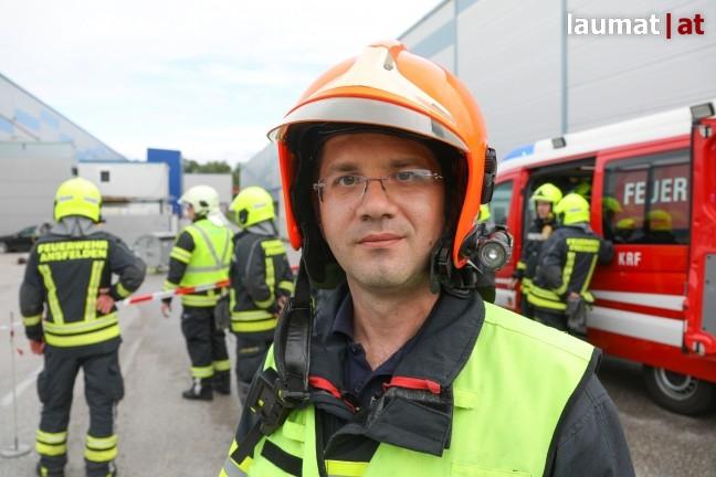 Thomas Andexlinger, Einsatzleiter Feuerwehr Traun