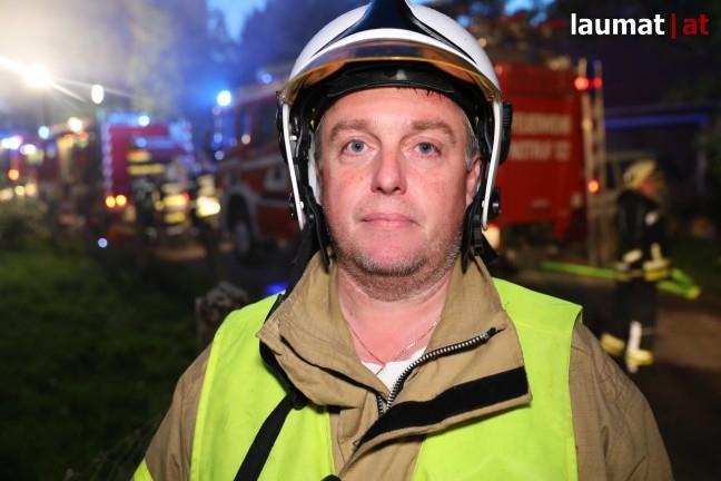Thomas Mörtenbäck, Einsatzleiter Feuerwehr Fraham