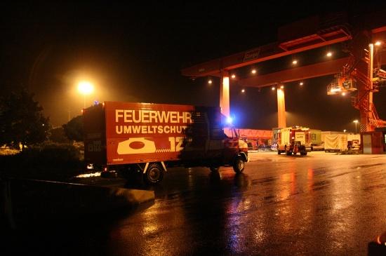 Gefahrguteinsatz ÖBB Terminal Wels