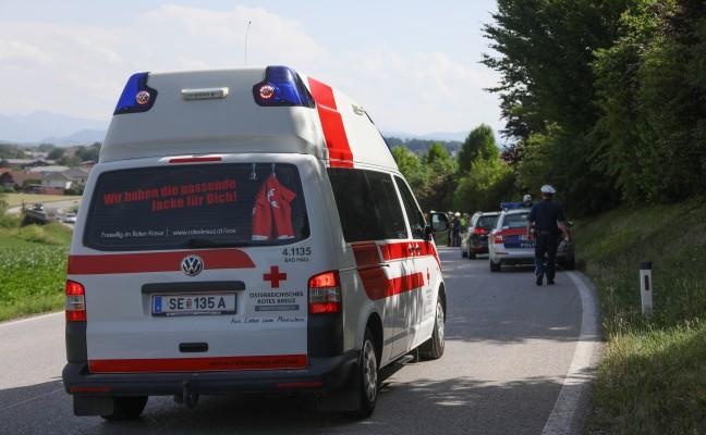 Motorradlenker nach Unfall bei Kematen an der Krems mit Notarzthubschrauber ins Krankenhaus geflogen