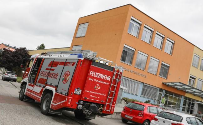 Brand in der Neuen Mittelschule Bad Schallerbach