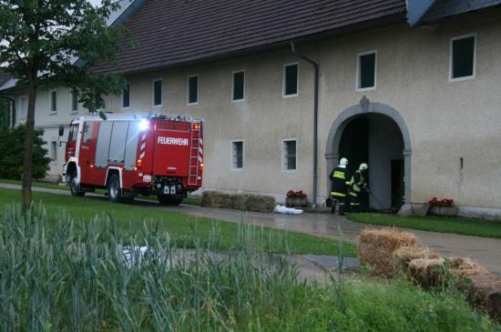 Schweres Gewitter über Linz-Land
