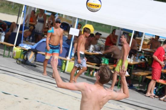 Schleißheim einen Tag lang im Zeichen des Beachvolleyballturniers