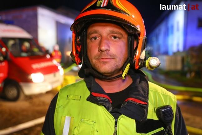 Jürgen Sturm, Einsatzleiter der Feuerwehr Laakirchen