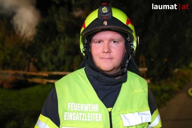 Stefan Wimmer, Einsatzleiter der Feuerwehr Fischlham