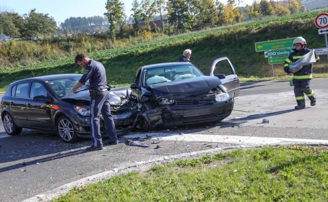 Kreuzungscrash in Pichl bei Wels endet glimpflich