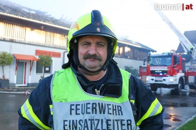 Karl-Heinz Kirtsch, Einsatzleiter der Feuerwehr Frankenmarkt
