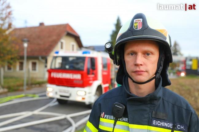 Christoph Eichinger, Kommandant der Feuerwehr Holzhausen