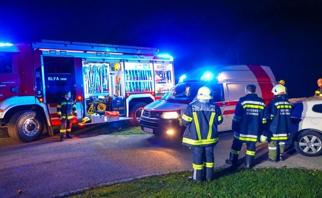 Personenrettung nach schwerem Forstunfall in St. Georgen bei Grieskirchen