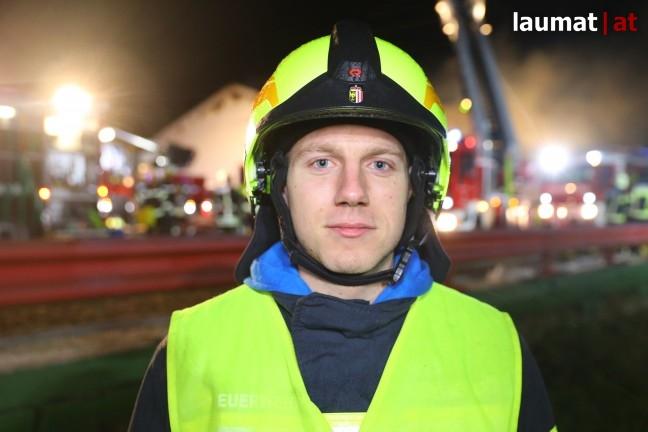 Daniel Pauzenberger, Einsatzleiter Feuerwehr Kallham