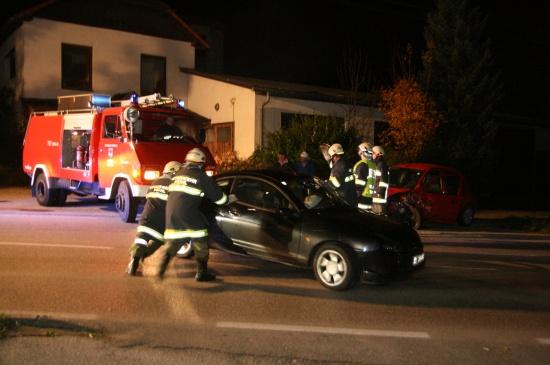 Verkehrsunfall in S-Kurve