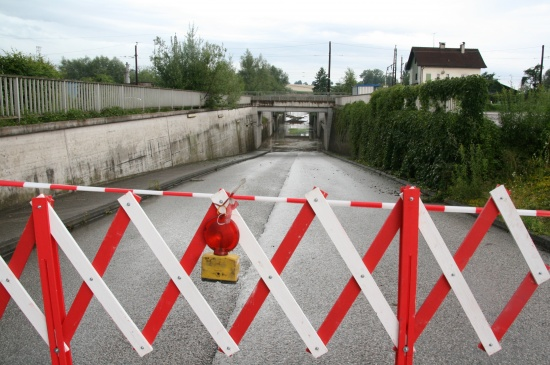 Überflutungen nach Unwetter in Wels-Land